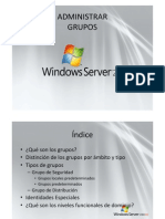 Administrar grupos Windows Server 2008