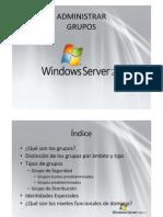 Administrar grupos Windows Server 2008