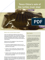 Tesco China's Sale of Live Turtles Must Stop