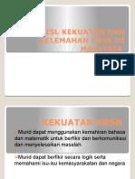 ISL KEKUATAN DAN KELEMAHAN KBSR DI MALAYSIA