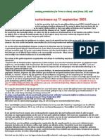 Analyse 11 September 2001