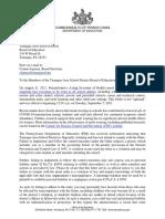 Tamaqua School District Letter