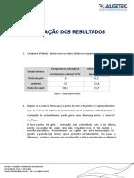FISICA - DINAMICA E TERMODINAMICA - Equação Termométrica - Relatório - Unid 3