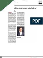 Da dante agli ipersocial, Rossetti celebra l'Inferno - Il Corriere Adriatico del 9 settembre 2021