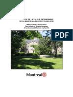 Analyse de La Valeur Patrimoniale Maison Molson (1)
