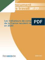 Document de Travail 77 Competitivite France en 2020 Mars 2021