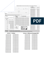 SAT Bubble Sheet