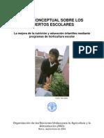 Huertos escolares (FAO)