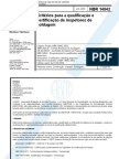 NBR 14842 - Criterios para a qualificacao e certificacao de inspetores de soldagem