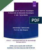 ISPT - Psicologia y Educacion - Matrices de aprendizaje - López, Mansilla