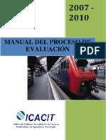 LIBRO GUIA DE ICACIT - MANUAL DEL PROCESO DE EVALUACION