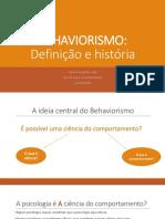 2-BEHAVIORISMO definição e história