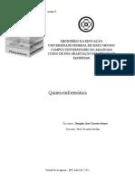 relatório de Quimioinformática Douglas
