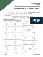 21 Identidades Trigonometricas de La Variable Mitad