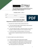 AP1 TEÓRICA LIBRAS 2017 - 2 - gabarito