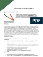 Celda de Combustible Microbiana de Levadura
