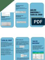 ANÁLISIS DIMENSIONAL Y TEORÍA DEL ERROR TRIPTICO