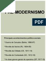 PRE-MODERNISMO CARACTERÍSTICAS GERAIS 2021