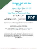 Run West, a Reception & Run for Allen West