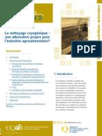 Rapport de La CQVB en Agroalimentaire