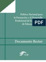 Política Nacional para la Formación de Maestros de EB