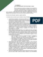 Atividade 1 - Projeto e teste de software - Taciana Ramos Luz - 200604675