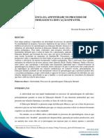 A IMPORTÂNCIA DA AFETIVIDADE NO PROCESSO DE  APRENDIZAGEM NA EDUCAÇÃO INFANTIL