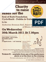 Special Charity Concert poster