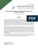 MODELO HIDROECONOMICO DEL AGUA SUBTERRANEA BASE PARA EL