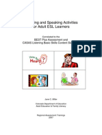 Listening and Speaking Activities
