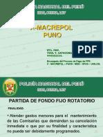 7 PRESENTACION DE  FONDO FIJO ROTATORIO  PUNO