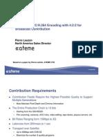 CCBEATEME10BitMPEG-4AVCcompressionforBroadcastcontribution