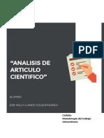 Llanos_analisis de Articulo Cientifico