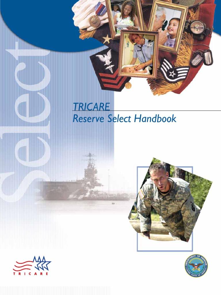 tricare reserve select handbook wellness health sciences