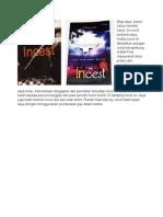 Cover Novel Incest Untuk Bentara Budaya Bali
