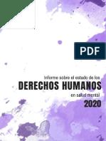 Informe Sobre El Estado de Los Derechos Humanos en Salud Mental 2020