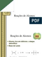 Reações de Alcenos