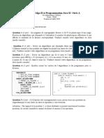 Examen Algo II et Java II G2 19-20