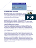 Evaluating Ministry Effectiveness, Faith & Therapy, Vol. 2 (8)