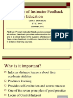 Importance of Instructor Feedback in Distance Education