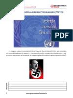 Aula 1 - Declaração Universal Dos Direitos Humanos (Parte I)