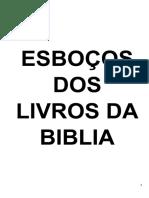 ESBOÇOS DOS LIVROS DA BIBLIA