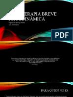 Psicoterapia Breve psicodinámica exposición Edgar Manrique