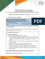 Guía de Actividades y Rúbrica de Evaluación - Unidad 2 - Fase 3 - Análisis