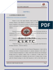 A study on Ratio analysis at ksrtc, Bangalore