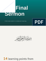 14 learning points from our Prophet's final Friday sermon.