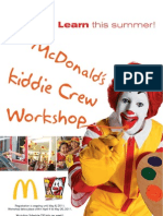 McDonald's Kiddie Crew Workshop Application form