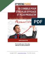55 Conseils pour être plus efficace et plus productif
