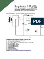 Circuito de fonte ajustável de 1-2 ate 33v 3a