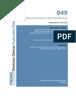 049 - Rotura prematura das membranas